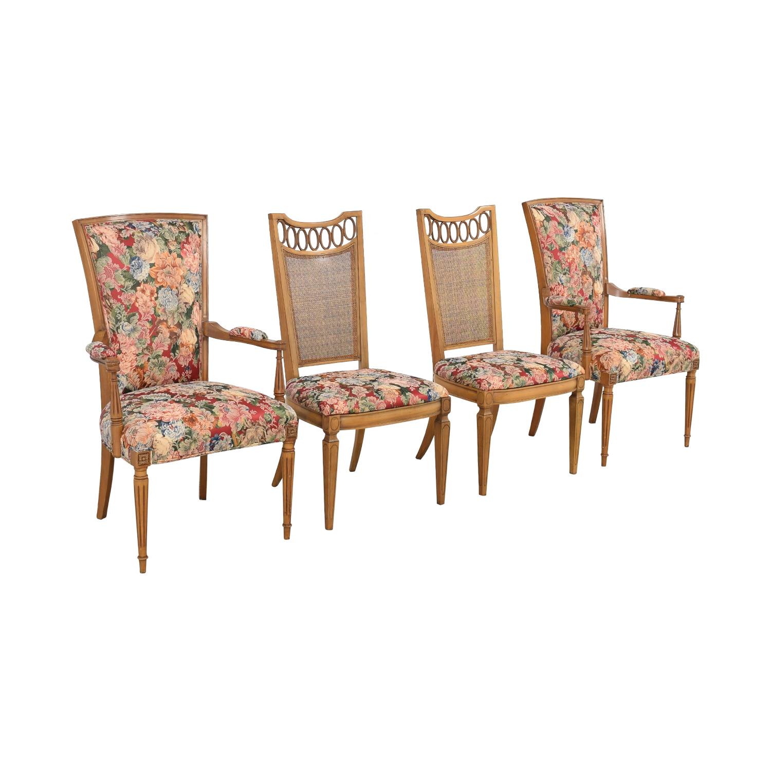 Floral Upholstered Arm and Side Dining Chairs nyc