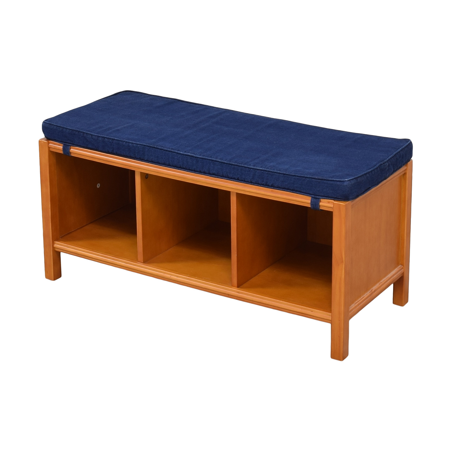 Land of Nod The Land of Nod Three Cube Bench with Cushion Chairs