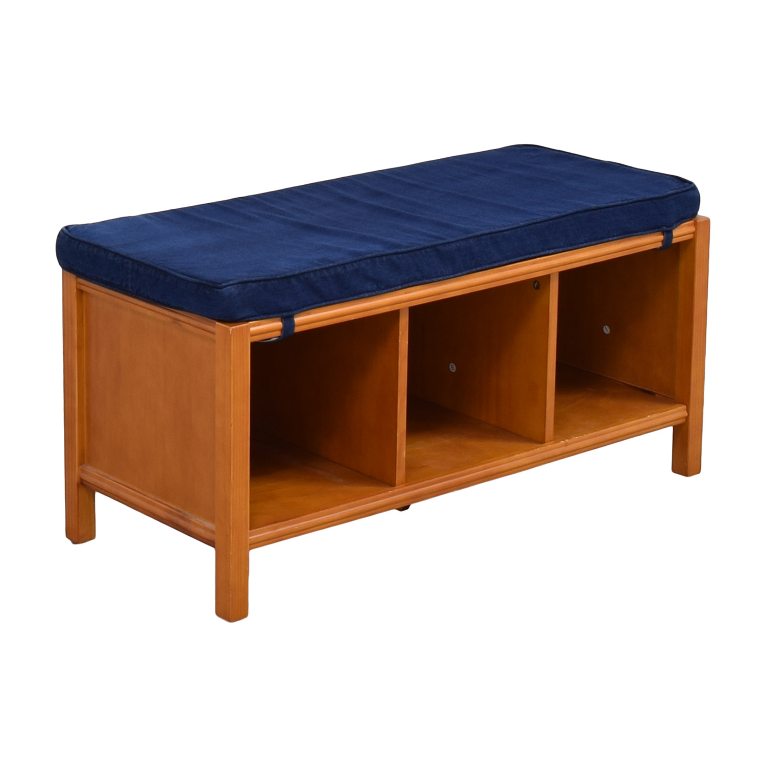 Land of Nod The Land of Nod Three Cube Bench with Cushion ma