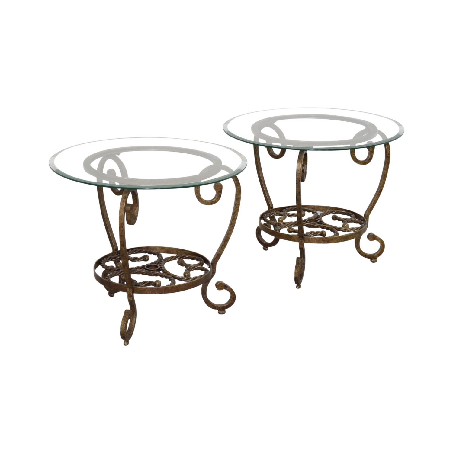 Bassett Furniture Bassett Furniture Glass End Tables ct