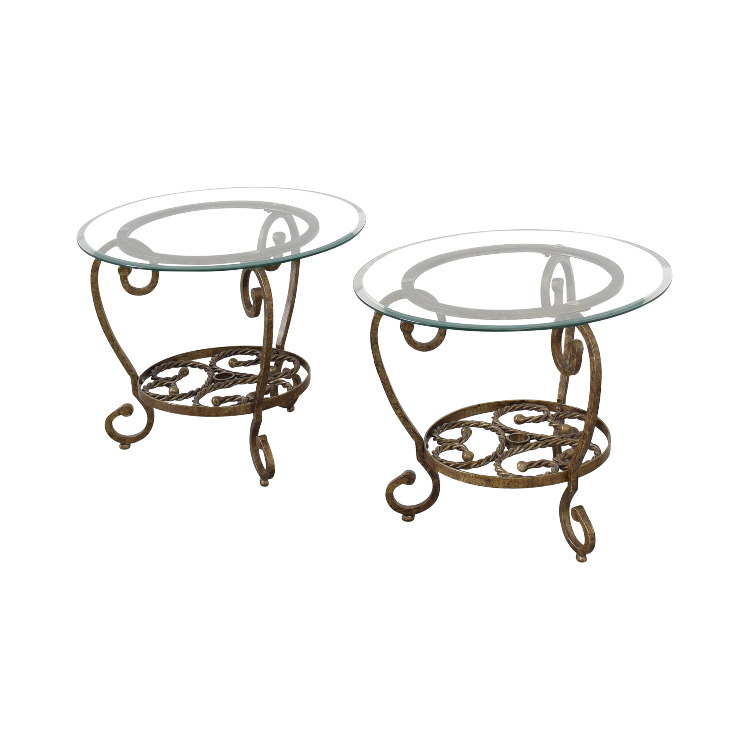 Bassett Furniture Bassett Furniture Glass End Tables nj