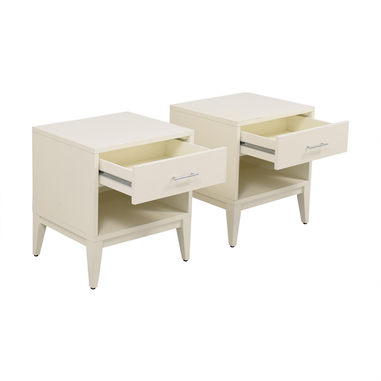 West Elm Narrow Leg Nightstands / End Tables