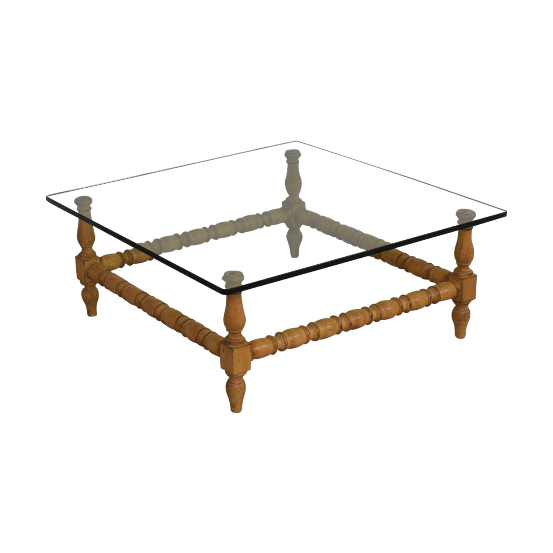 Glass Coffee Table brown