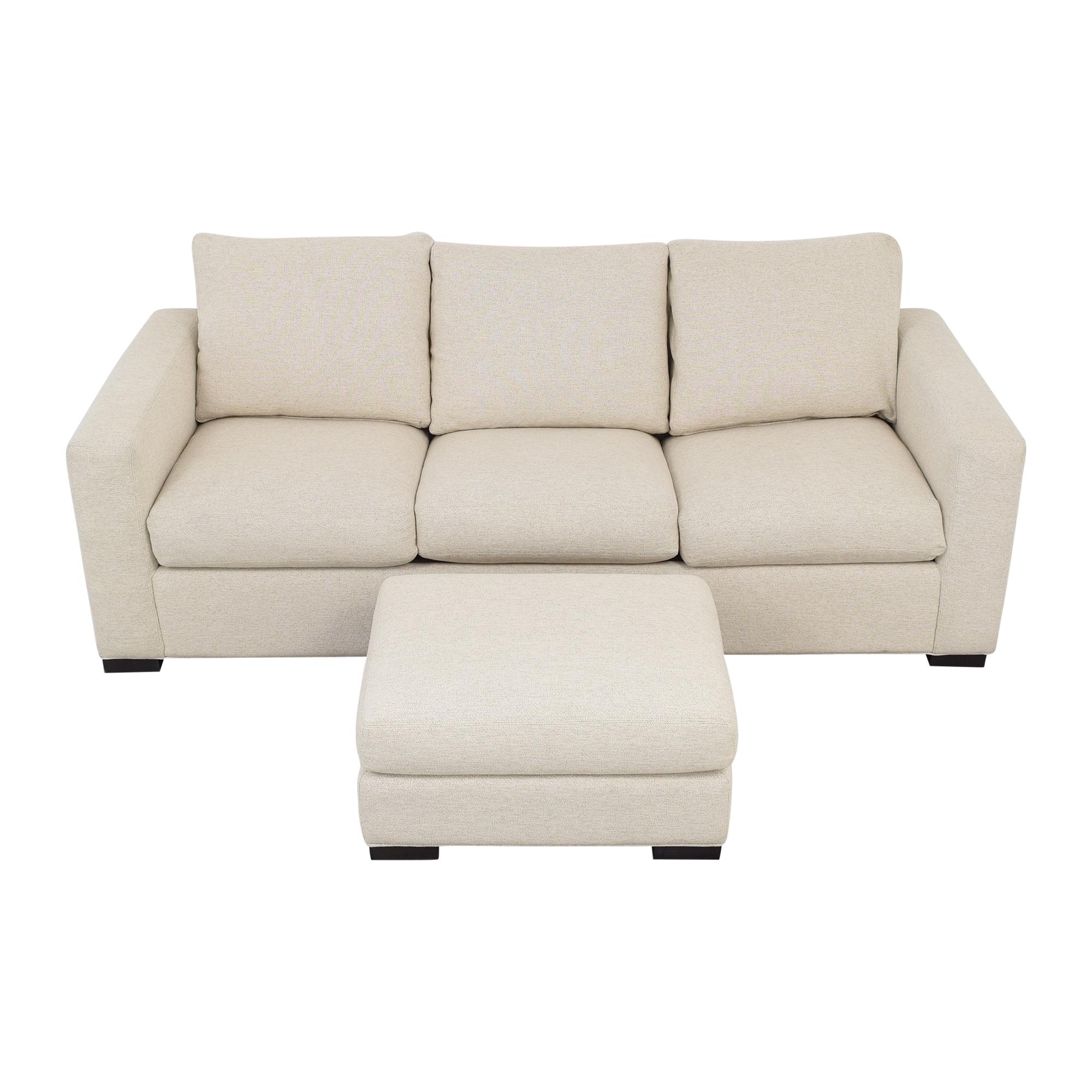 buy Room & Board Queen Sleeper Sofa with Ottoman Room & Board Sofa Beds