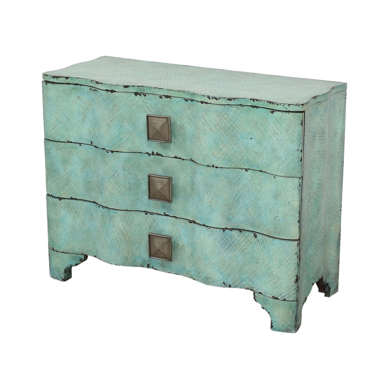 Hooker Furniture Three Drawer Crackle Chest / Storage