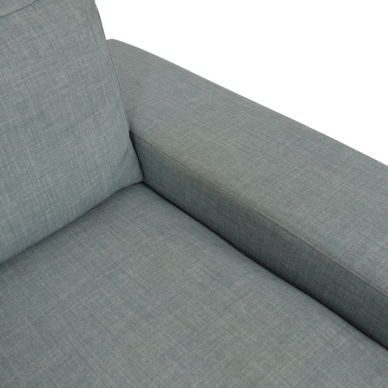 Three Cushion Modern Sofa blue