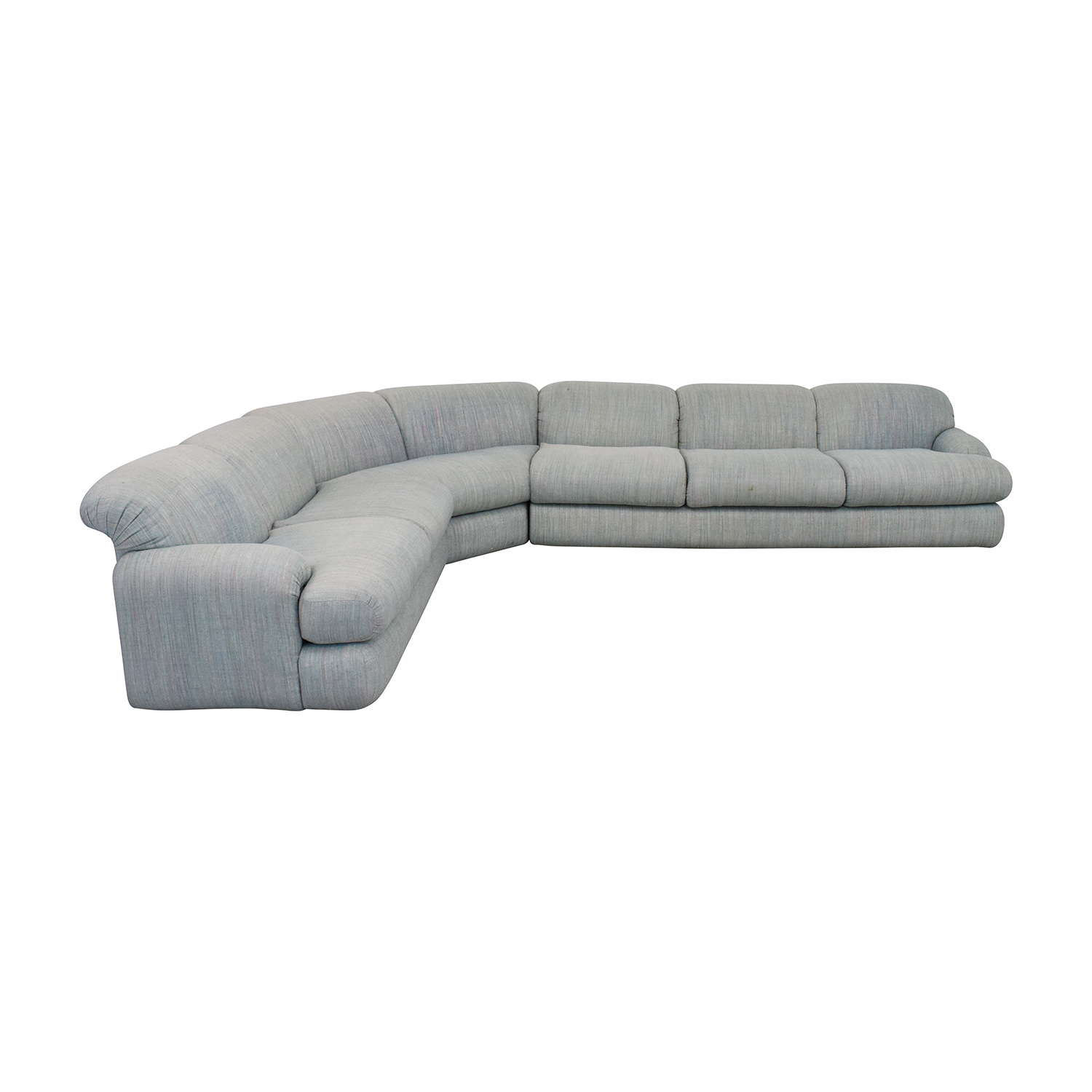 Preview Furniture Preview Furniture David L. James Curved Corner Sectional Sofa dimensions