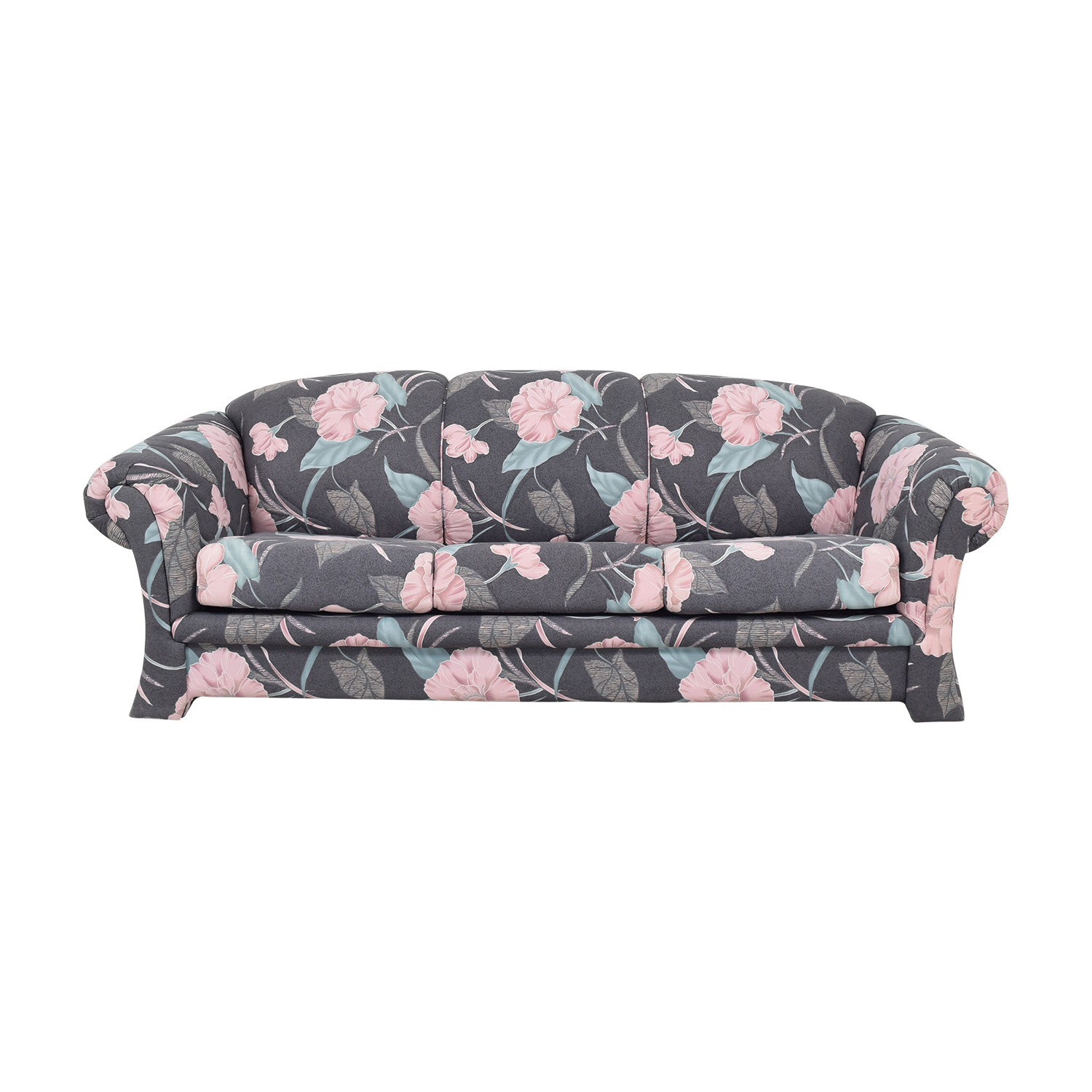 Floral Upholstered Queen Sleeper Sofa multi