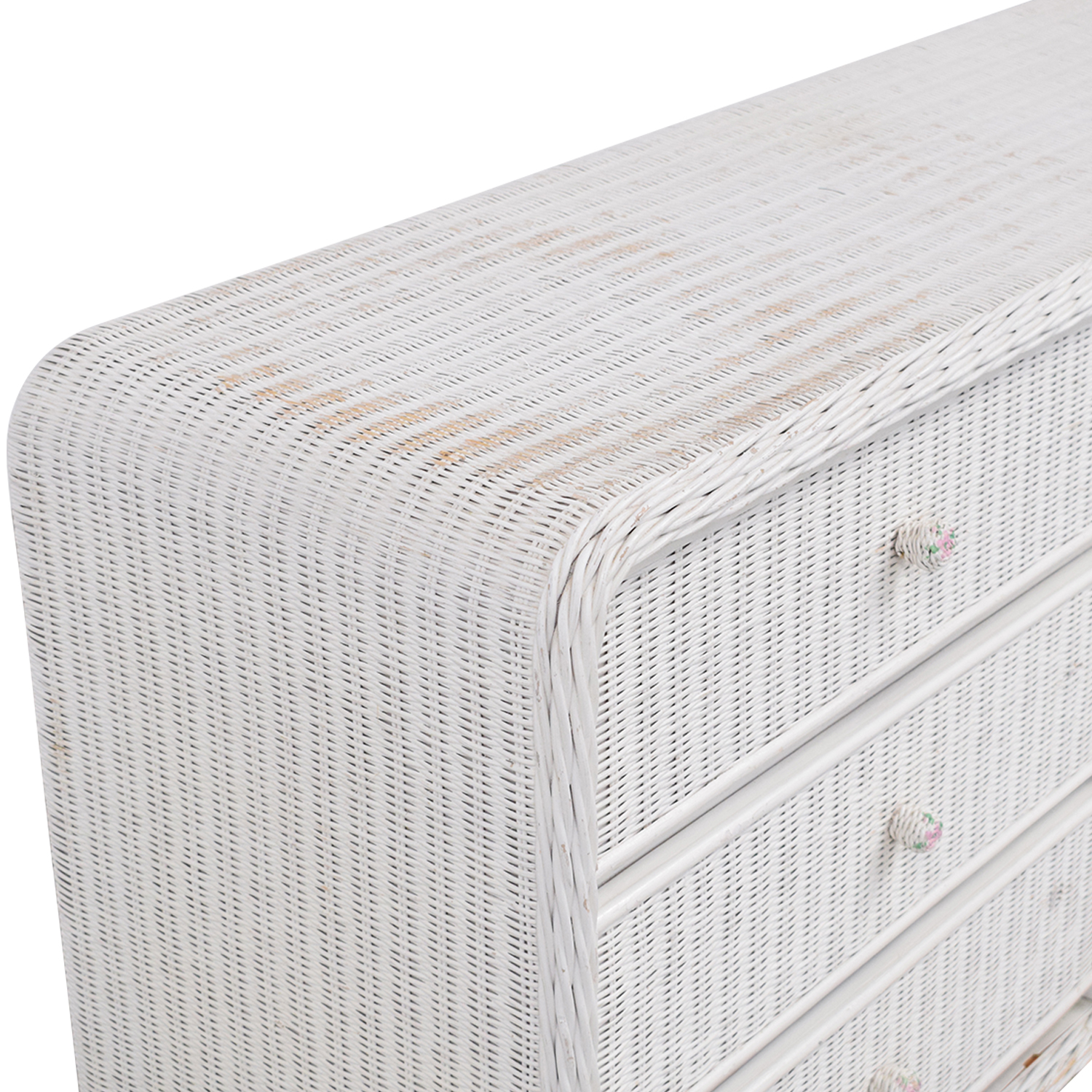 White Wicker Chest of Drawers second hand