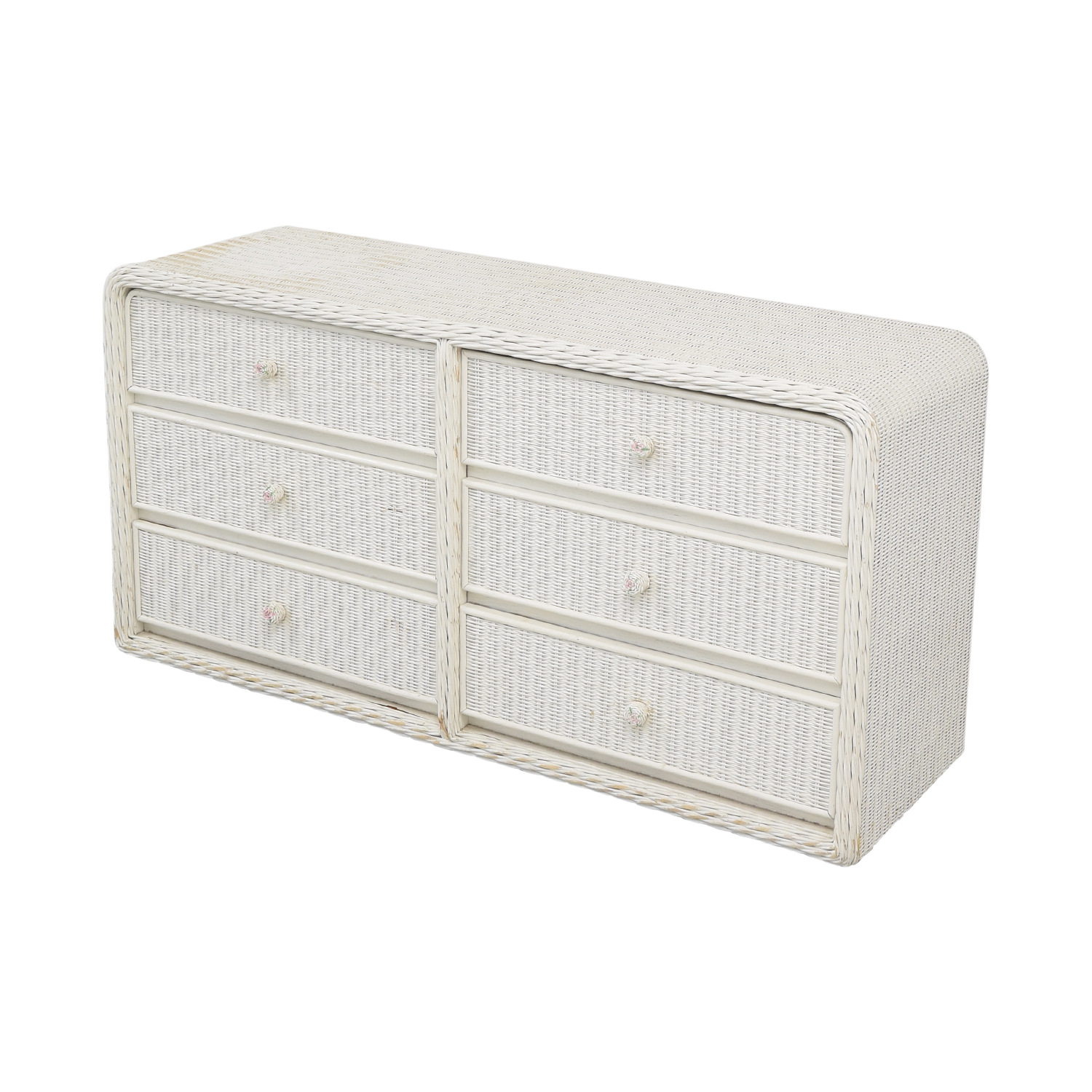 White Wicker Chest of Drawers Dressers