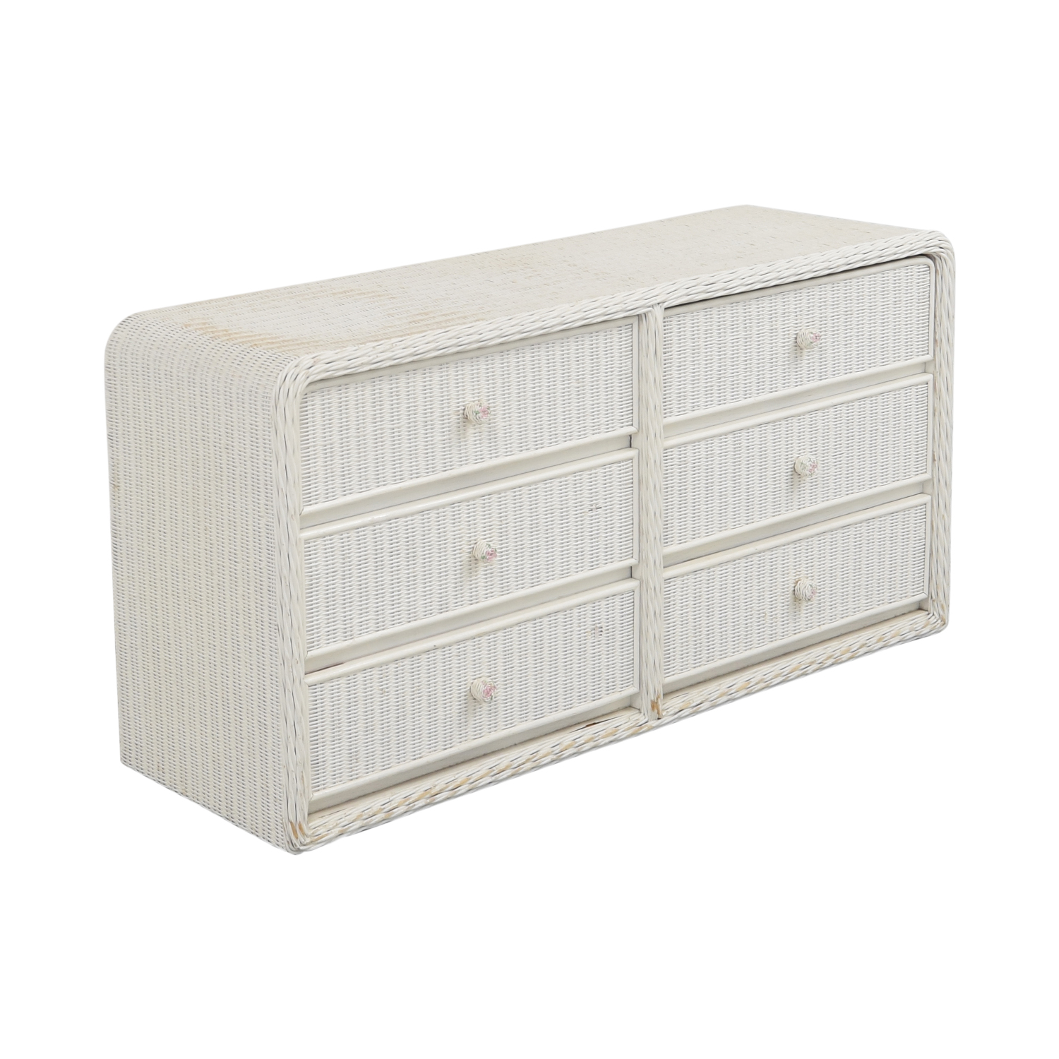 buy White Wicker Chest of Drawers  Storage