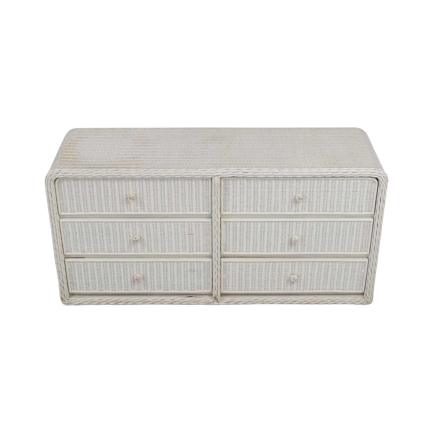 White Wicker Chest of Drawers dimensions