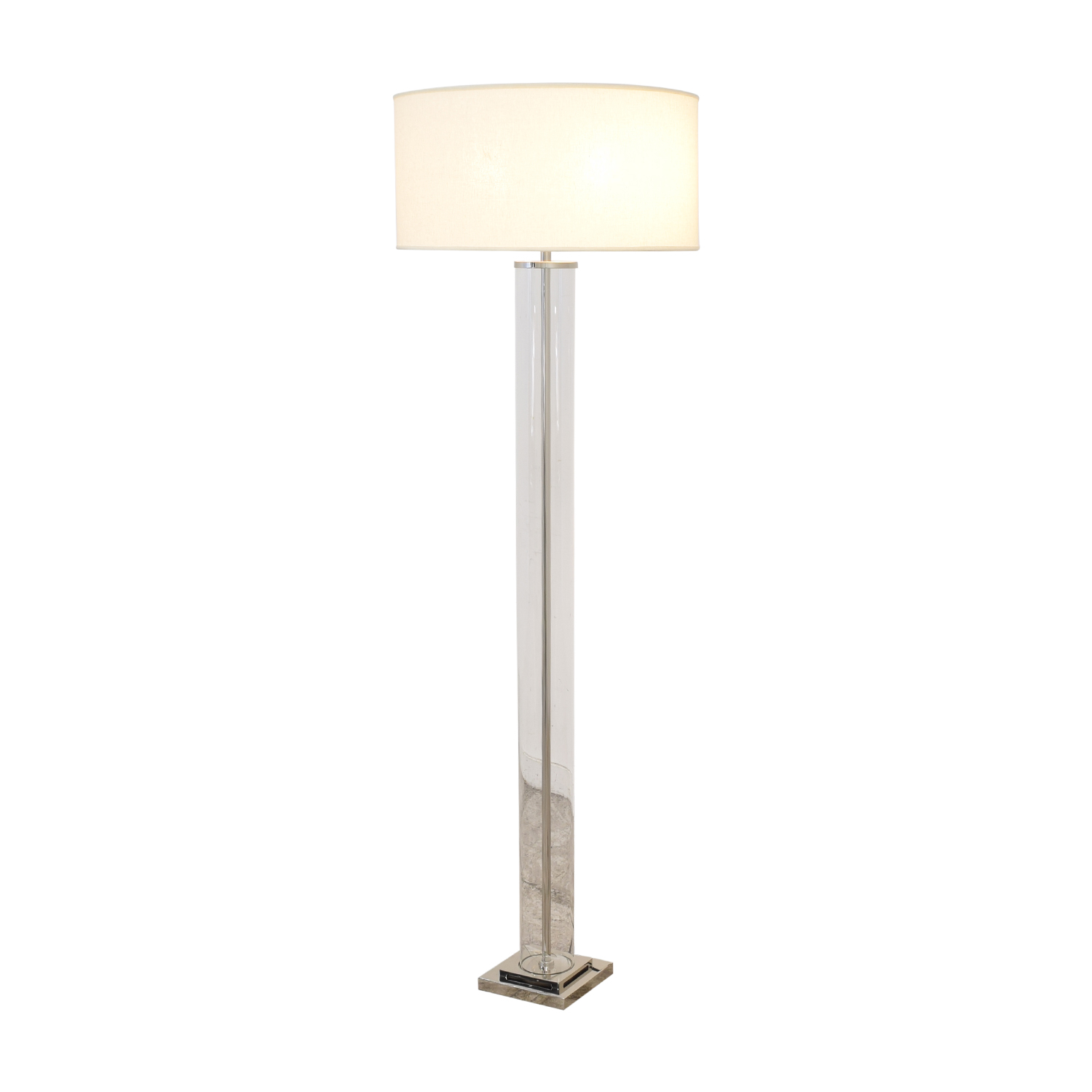 Restoration Hardware Restoration Hardware French Column Glass Floor Lamp with Shade for sale