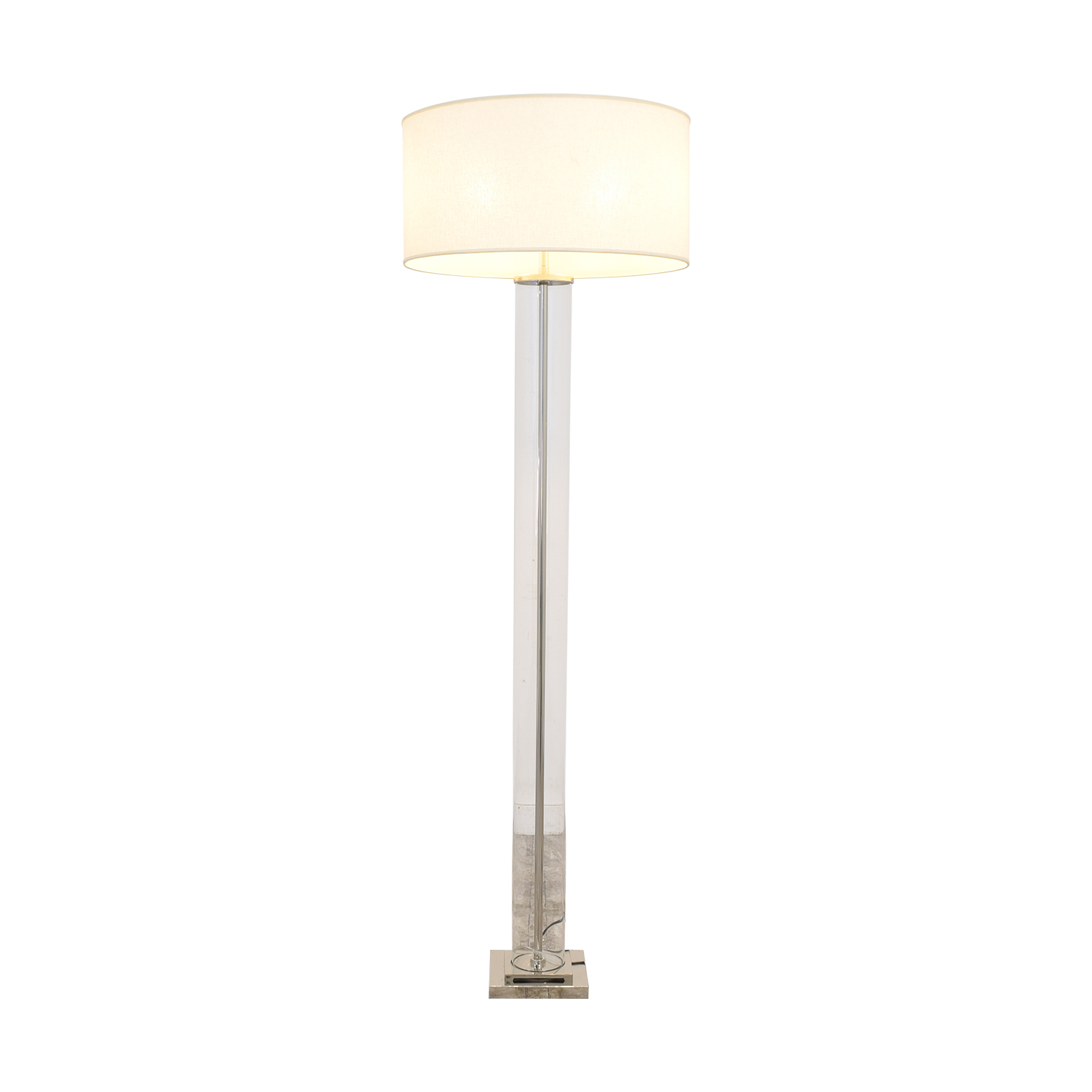 Restoration Hardware Restoration Hardware French Column Glass Floor Lamp with Shade pa