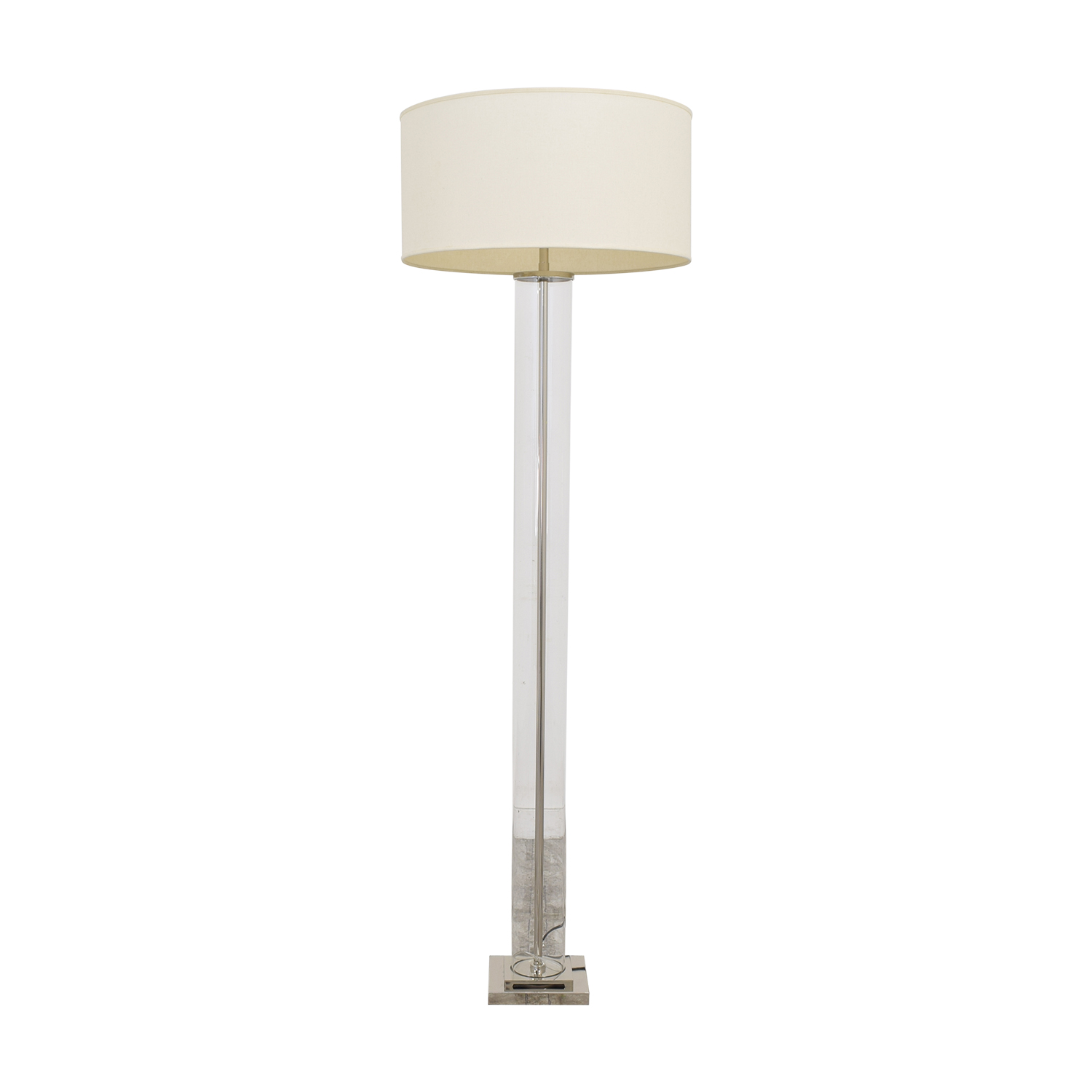 Restoration Hardware Restoration Hardware French Column Glass Floor Lamp with Shade dimensions