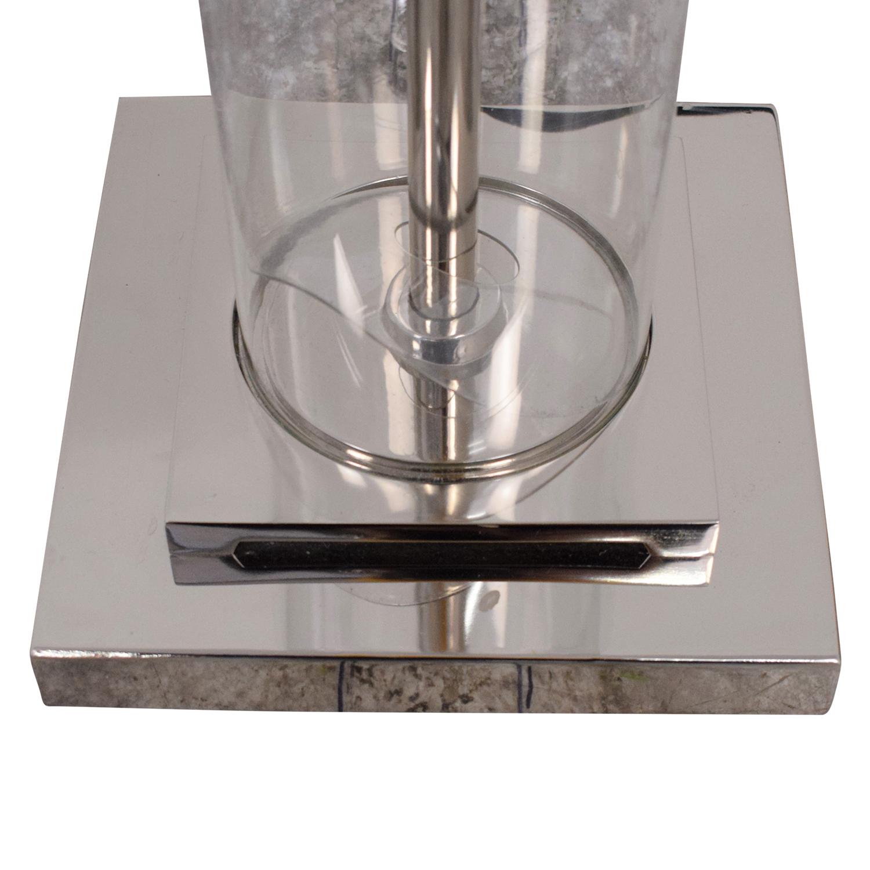 buy Restoration Hardware French Column Glass Floor Lamp with Shade Restoration Hardware Decor