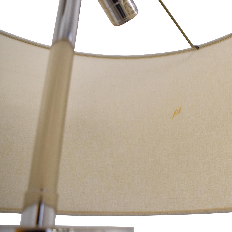 Restoration Hardware French Column Glass Floor Lamp with Shade / Decor