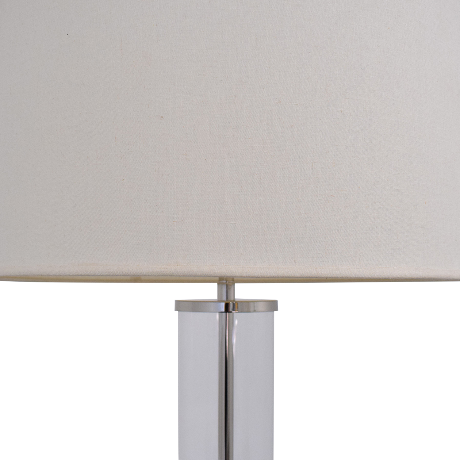 buy Restoration Hardware Restoration Hardware French Column Glass Floor Lamp with Shade online