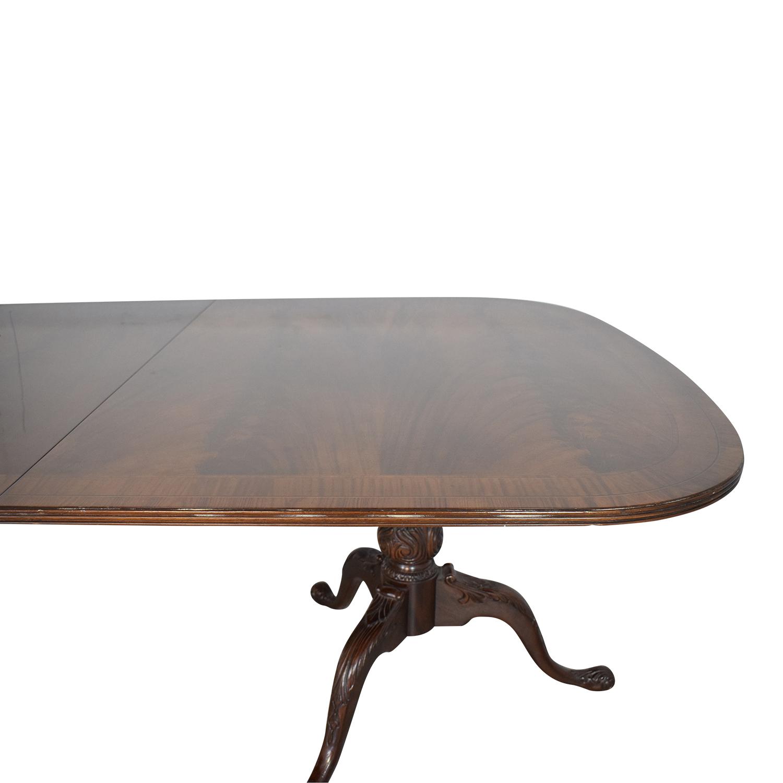 buy Drexel Heritage Double Pedestal Dining Table Drexel Heritage
