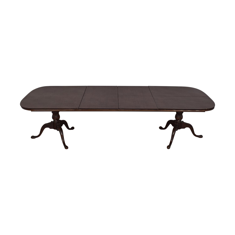 Drexel Heritage Drexel Heritage Double Pedestal Dining Table dimensions