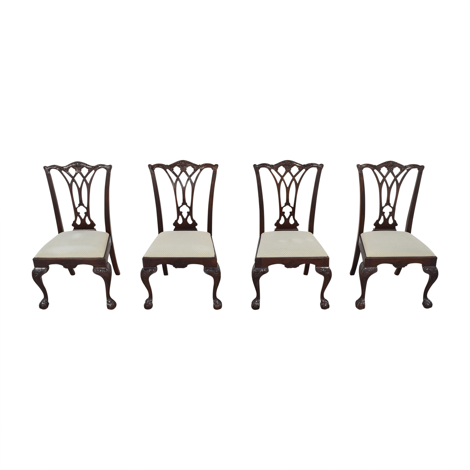 Drexel Heritage Drexel Heritage Armless Dining Chairs brown and beige