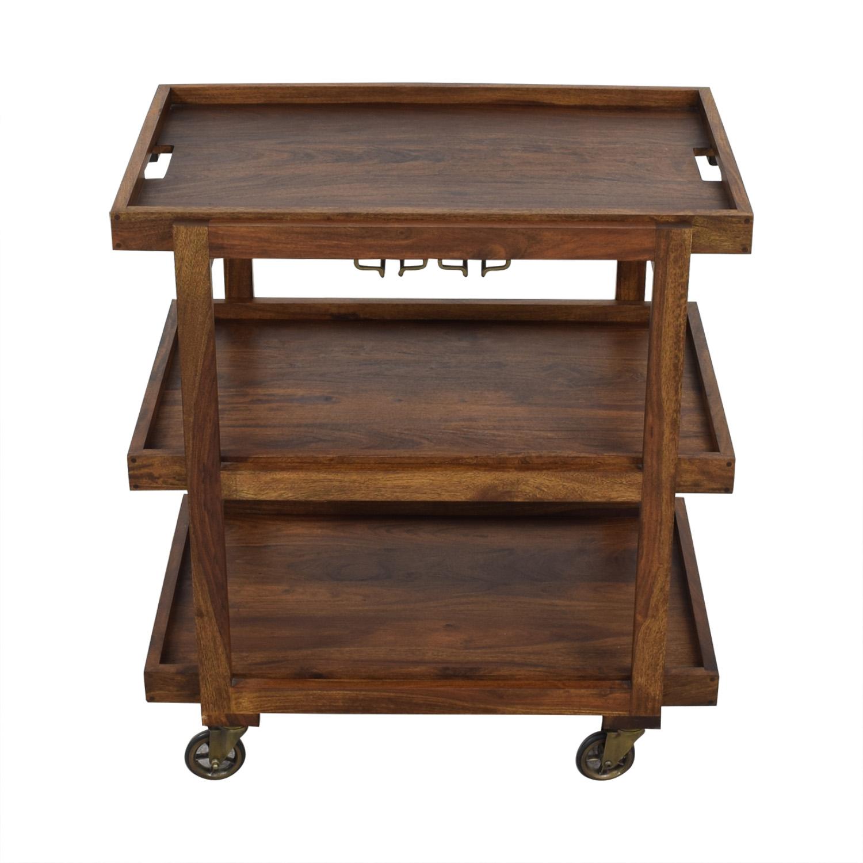 Crate & Barrel Crate & Barrel Collins Bar Cart second hand