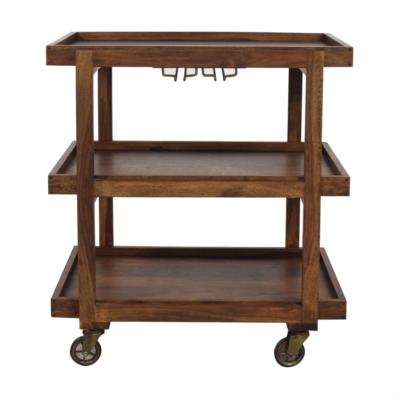 buy Crate & Barrel Collins Bar Cart Crate & Barrel Tables