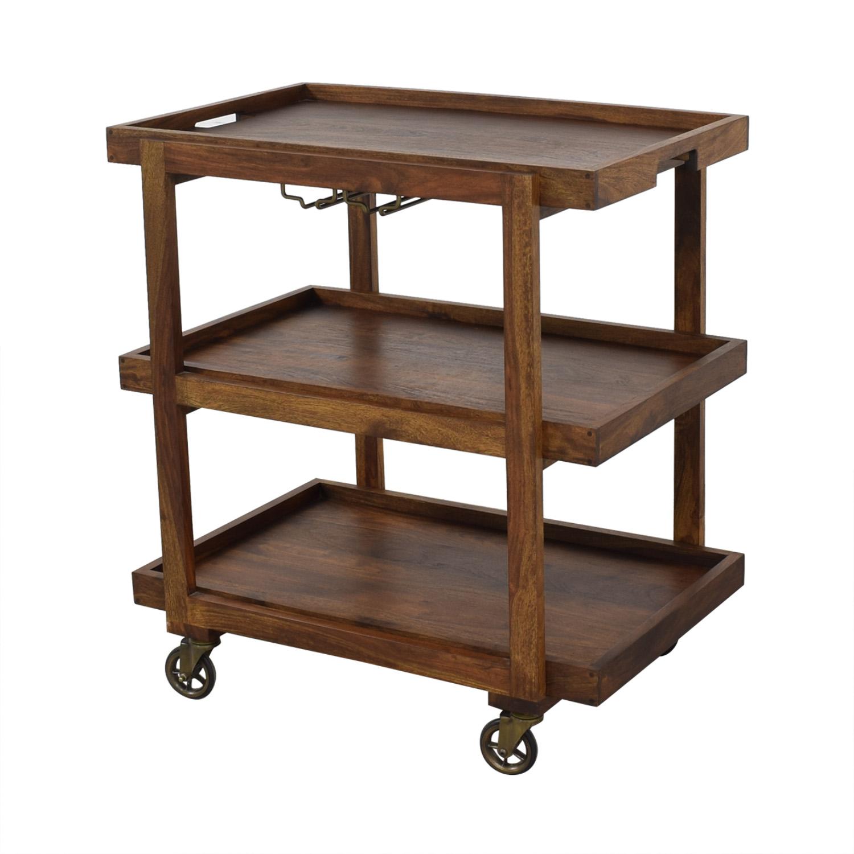 Crate & Barrel Crate & Barrel Collins Bar Cart ma
