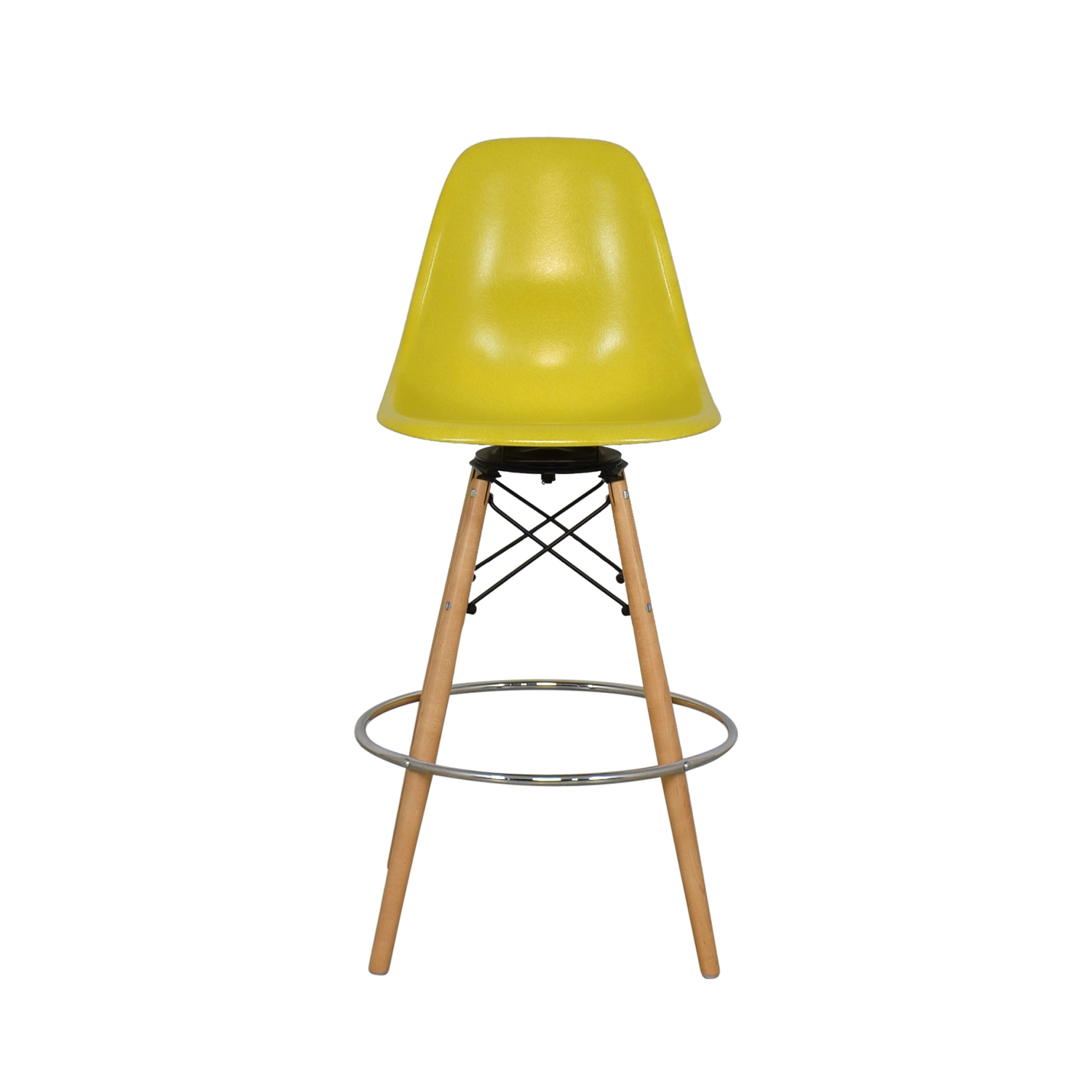 Modernica Modernica Case Study Side Shell Dowel Bar Stool Chairs