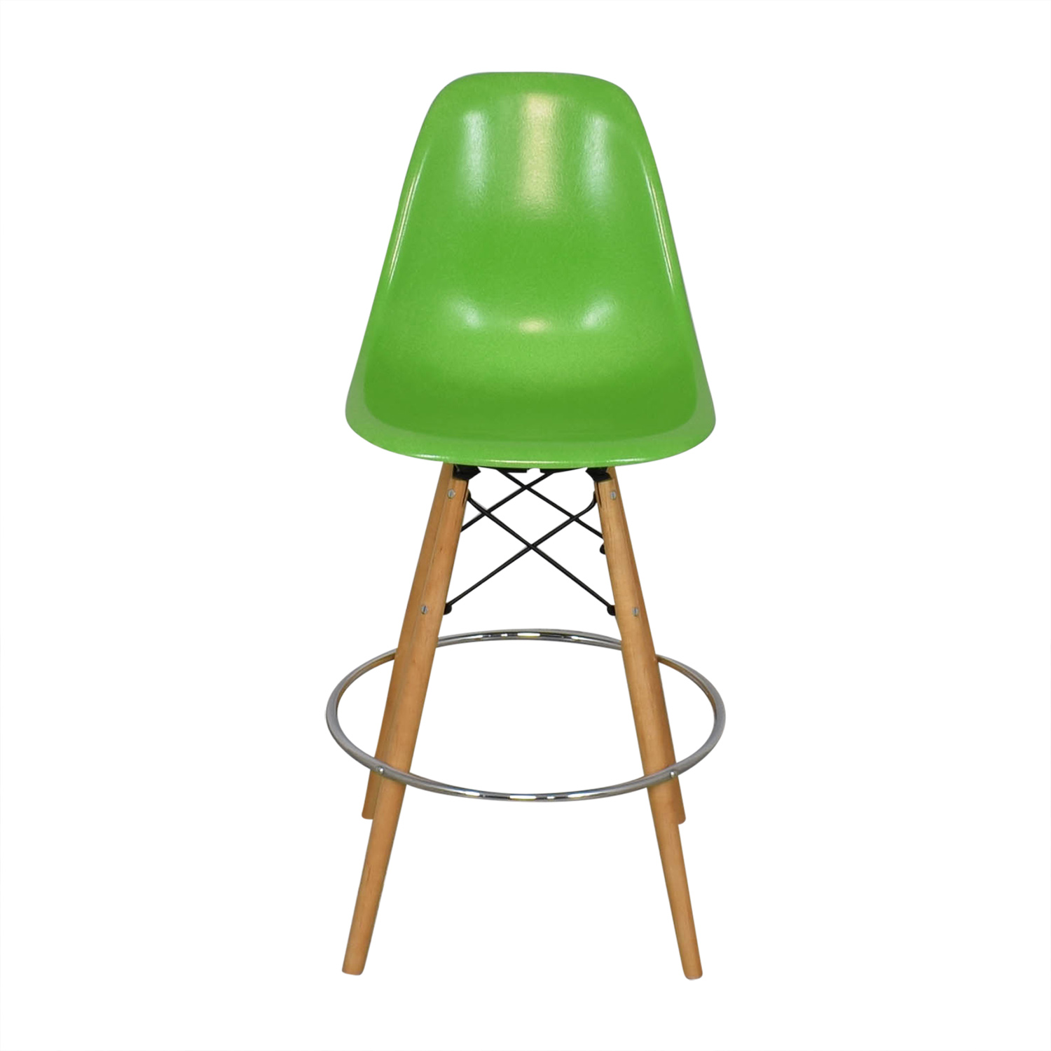 Modernica Modernica Case Study Side Shell Dowel Bar Stool green