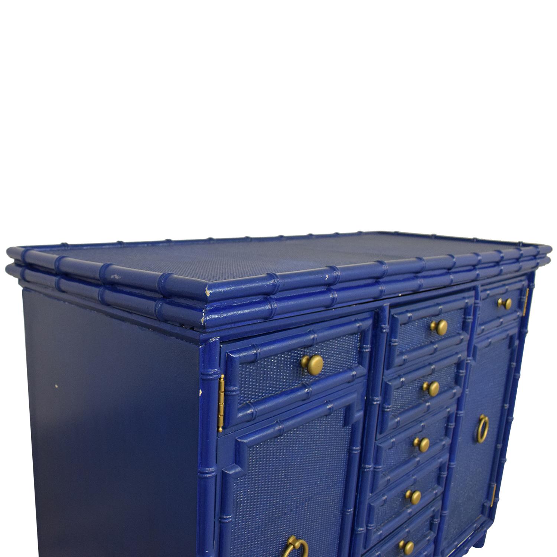 Vintage Painted Bar Cart Storage