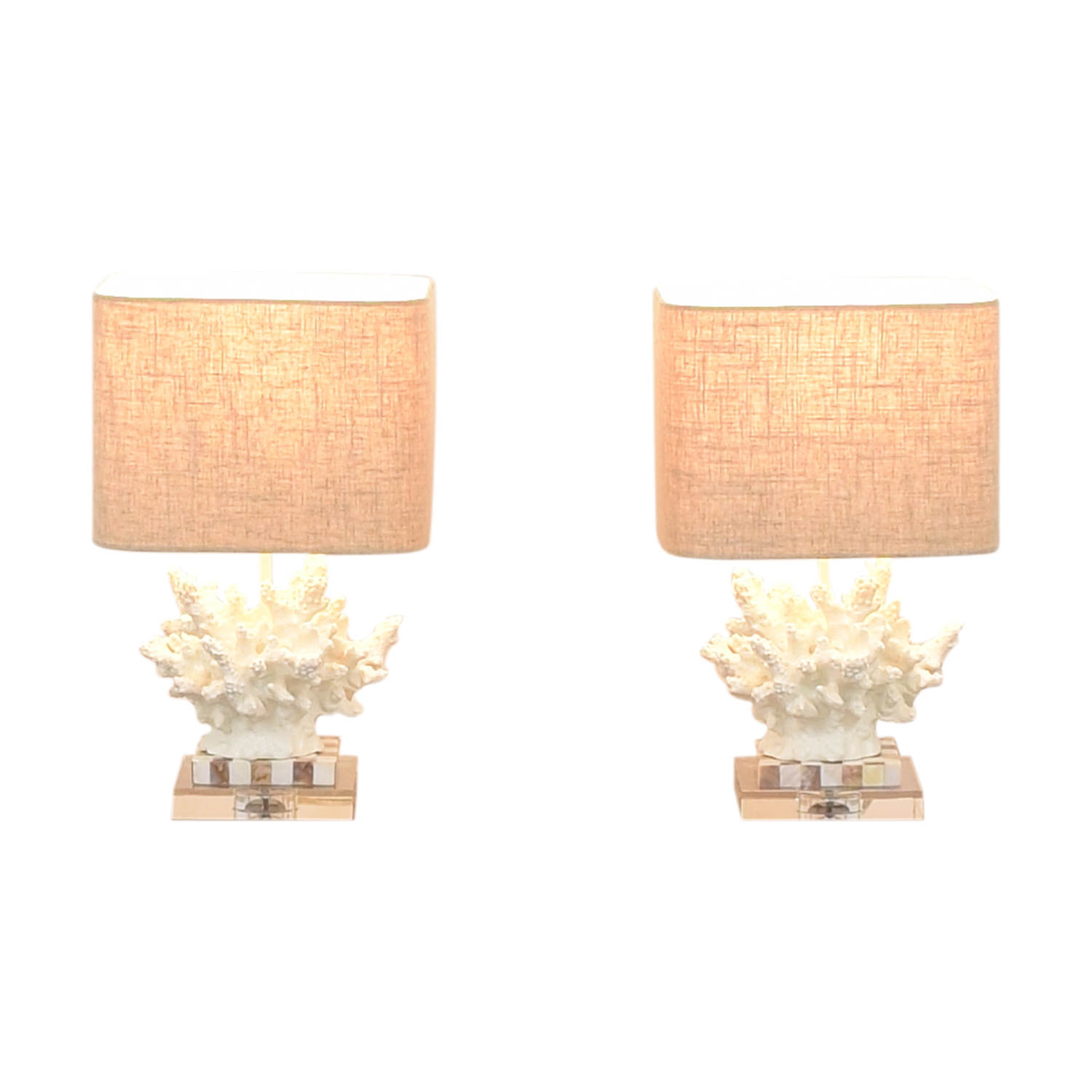 Couture Lamps Couture Lamps Wayfarer Accent Lamps white & brown