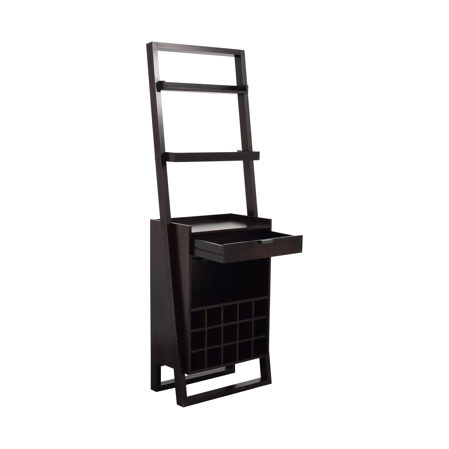 buy Crate & Barrel Sloane Leaning Wine Bar Crate & Barrel Bookcases & Shelving