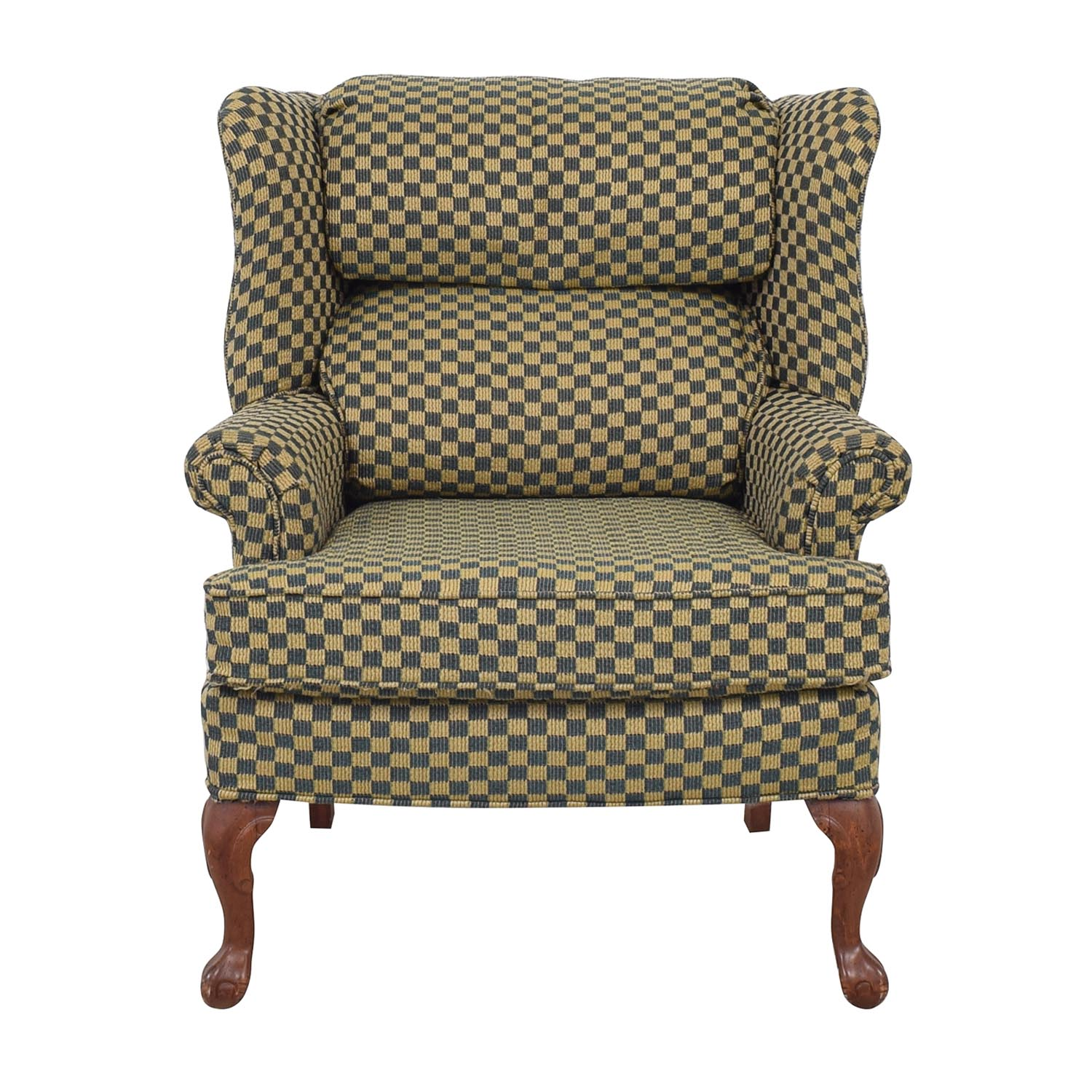 Paul Robert Paul Robert Wingback Chair blue & yellow