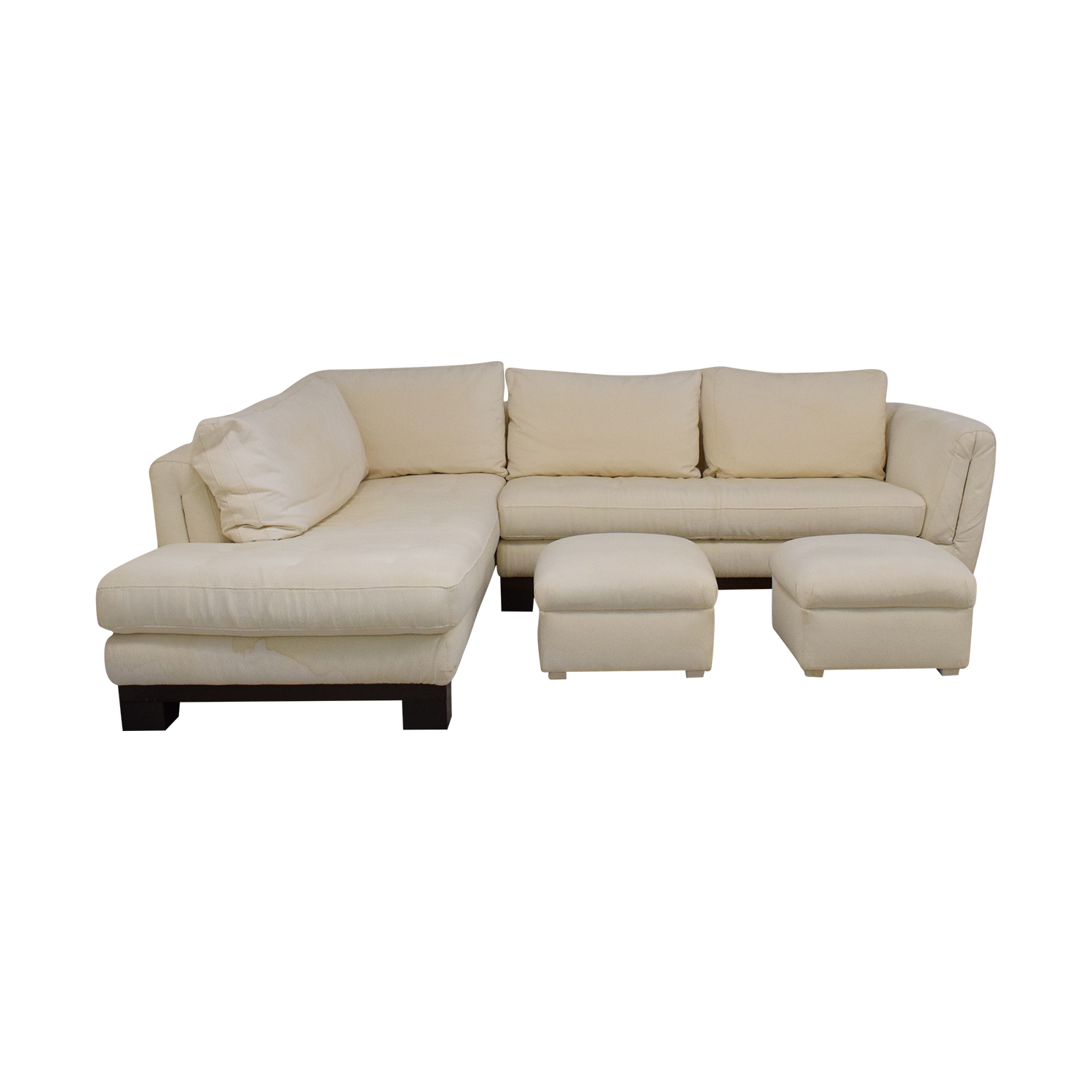 buy Maurice Villency Maurice Villency Signed Tufted Sectional Sofa with Ottomans online