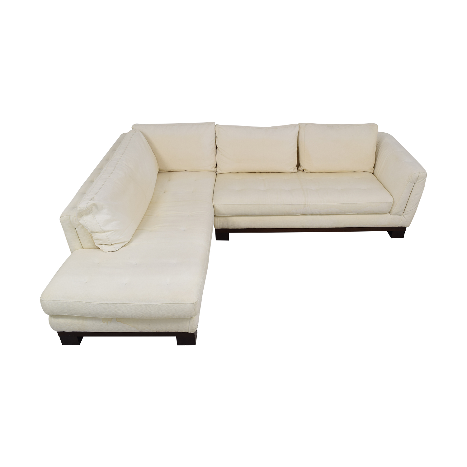 Maurice Villency Signed Tufted Sectional Sofa with Ottomans sale