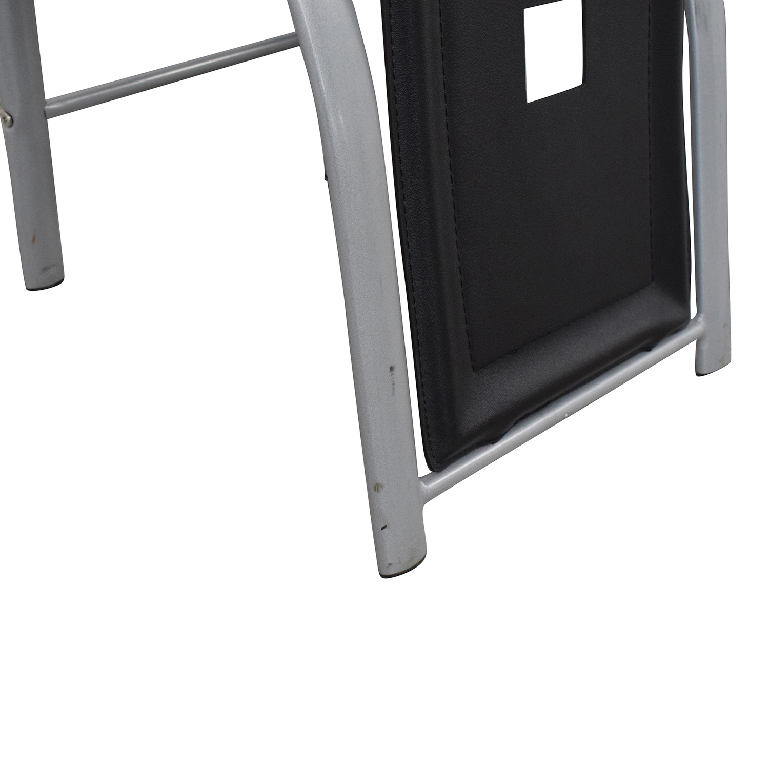 Black and White High Back Side Dining Chairs used