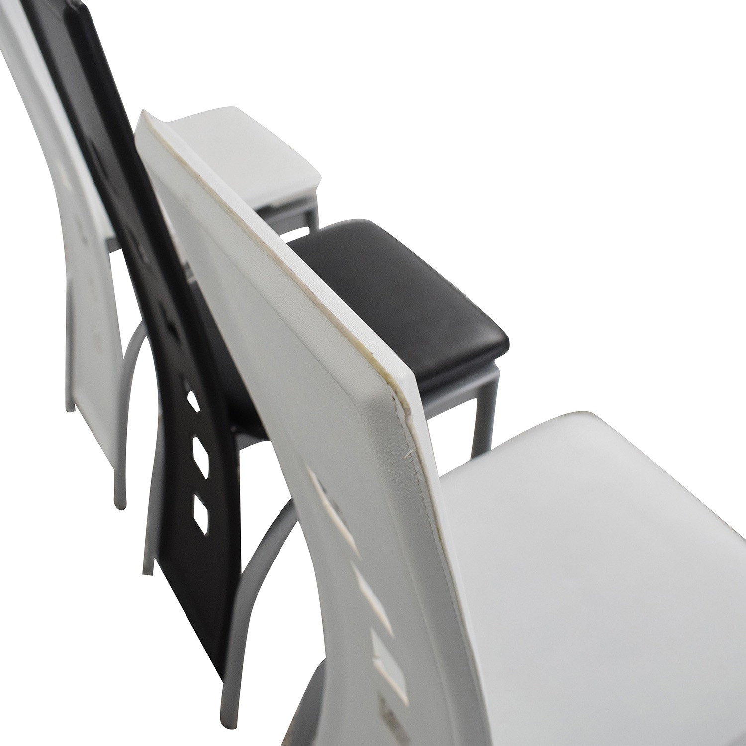 Black and White High Back Side Dining Chairs Dining Chairs