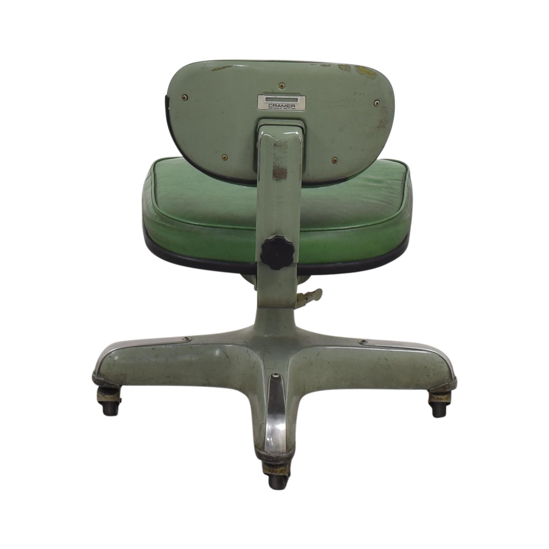 Cramer Industries Vintage Cramer Industries Swivel Office Chair green
