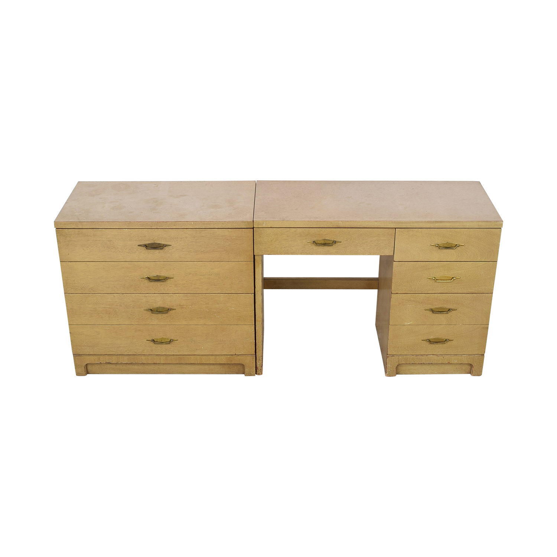 Bassett Furniture Bassett Furniture Vintage Desk and Cabinet dimensions