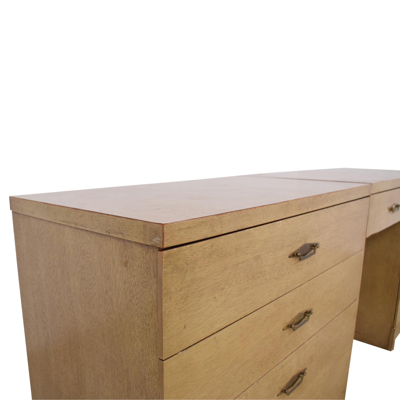 Bassett Furniture Vintage Desk and Cabinet / Tables