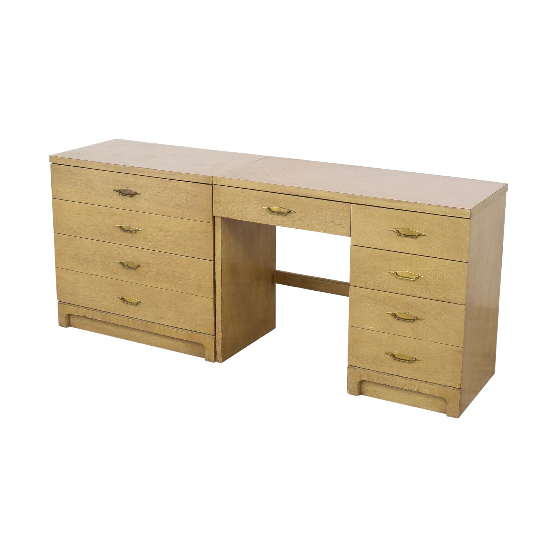 buy Bassett Furniture Vintage Desk and Cabinet Bassett Furniture Home Office Desks