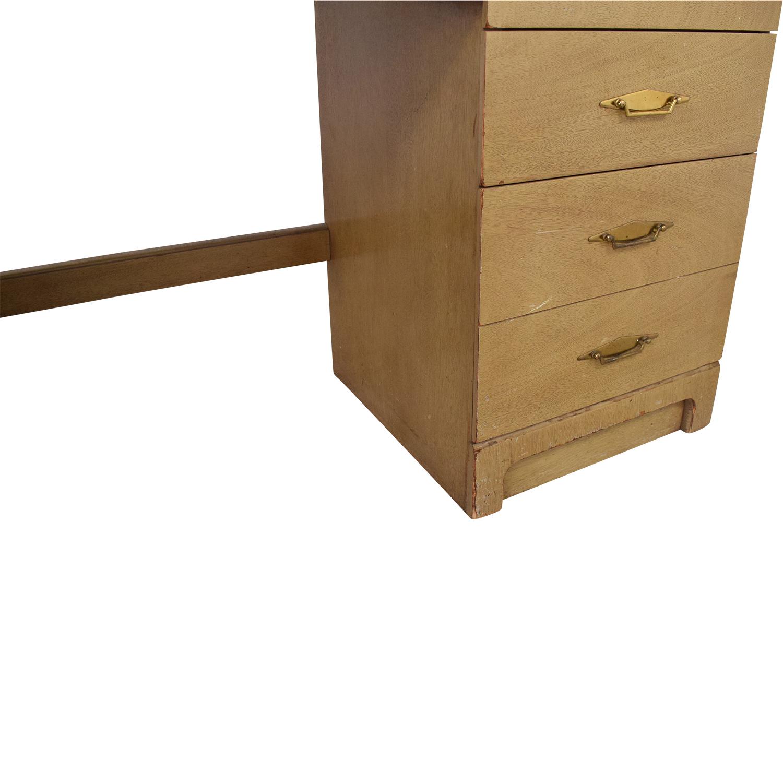 Bassett Furniture Bassett Furniture Vintage Desk and Cabinet pa
