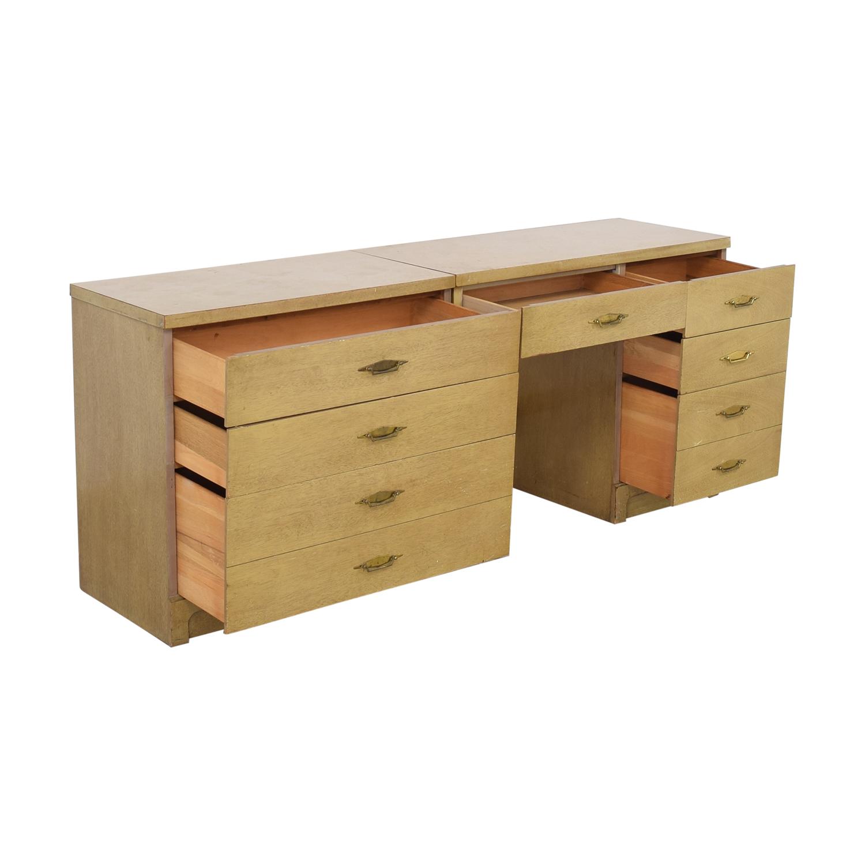 shop Bassett Furniture Vintage Desk and Cabinet Bassett Furniture Home Office Desks