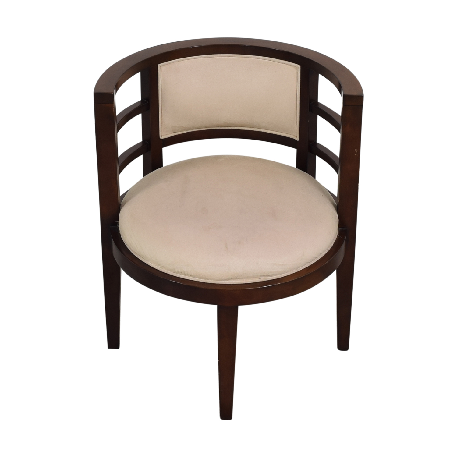Open Round Back Accent Chair dimensions