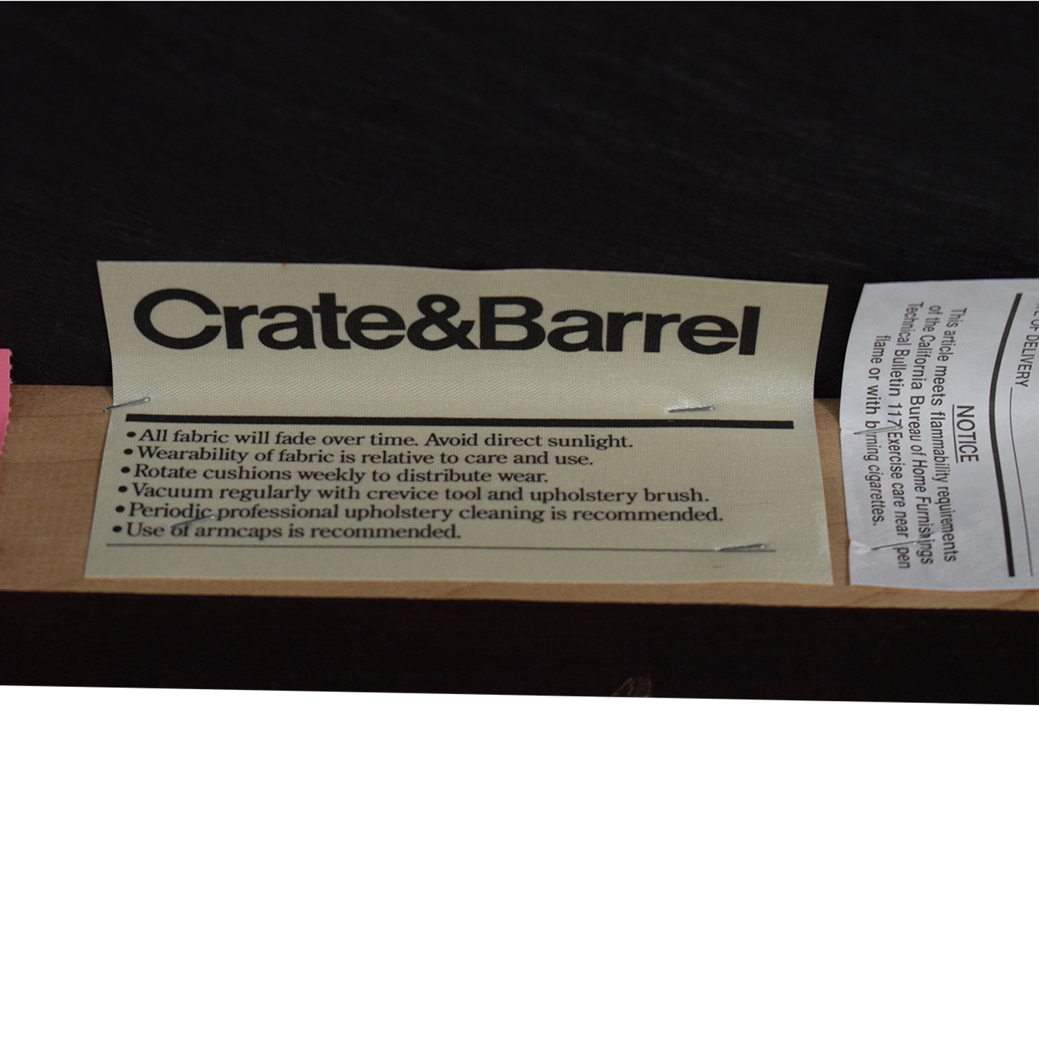 Crate & Barrel Crate & Barrel Tight Back Sofa brown