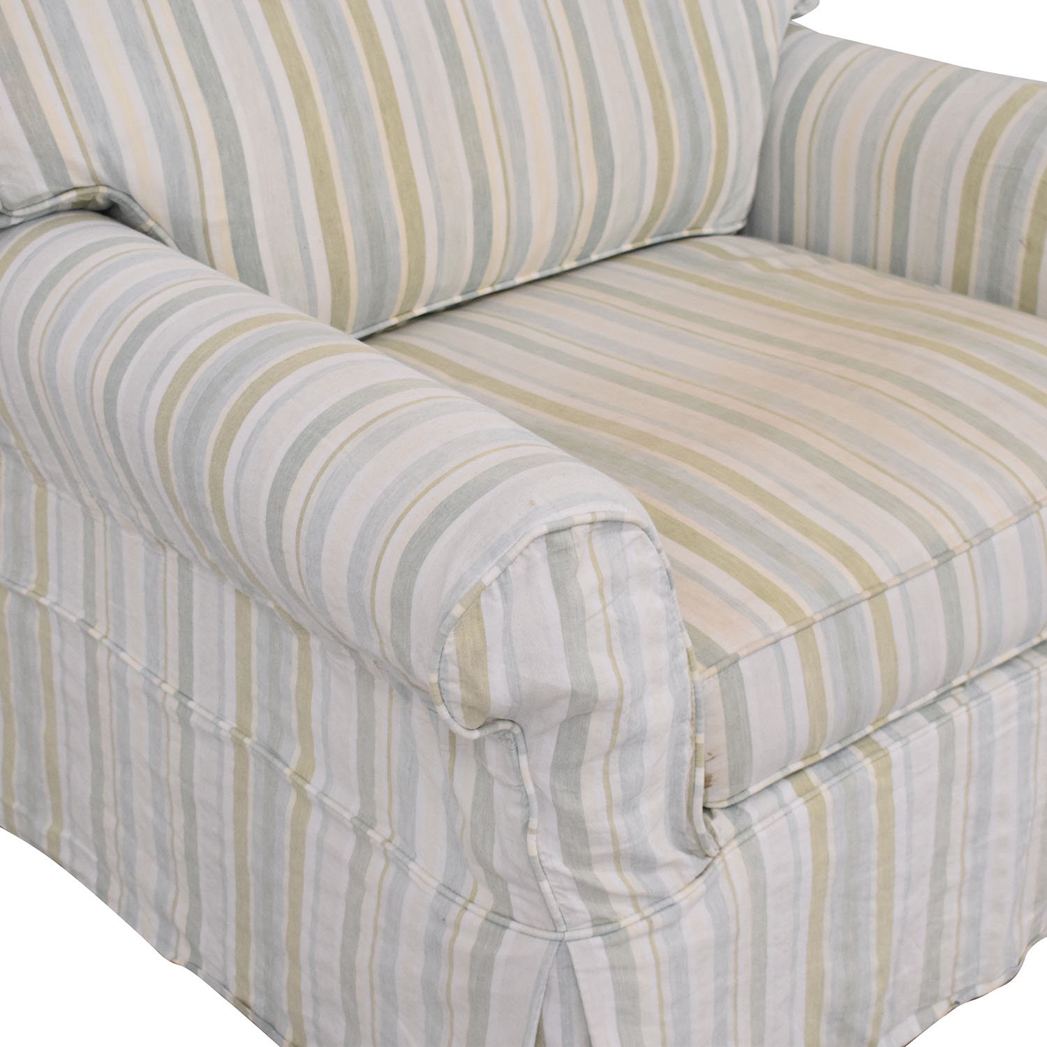 Crate & Barrel Crate & Barrel Slipcovered Accent Chair multicolored