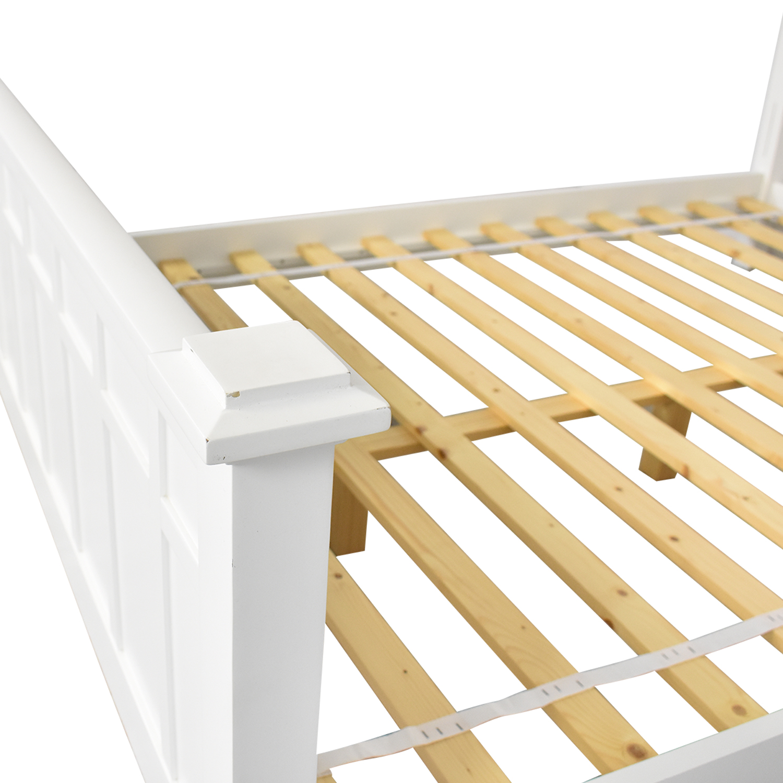 Crate & Barrel Crate & Barrel Brighton Queen Bed white