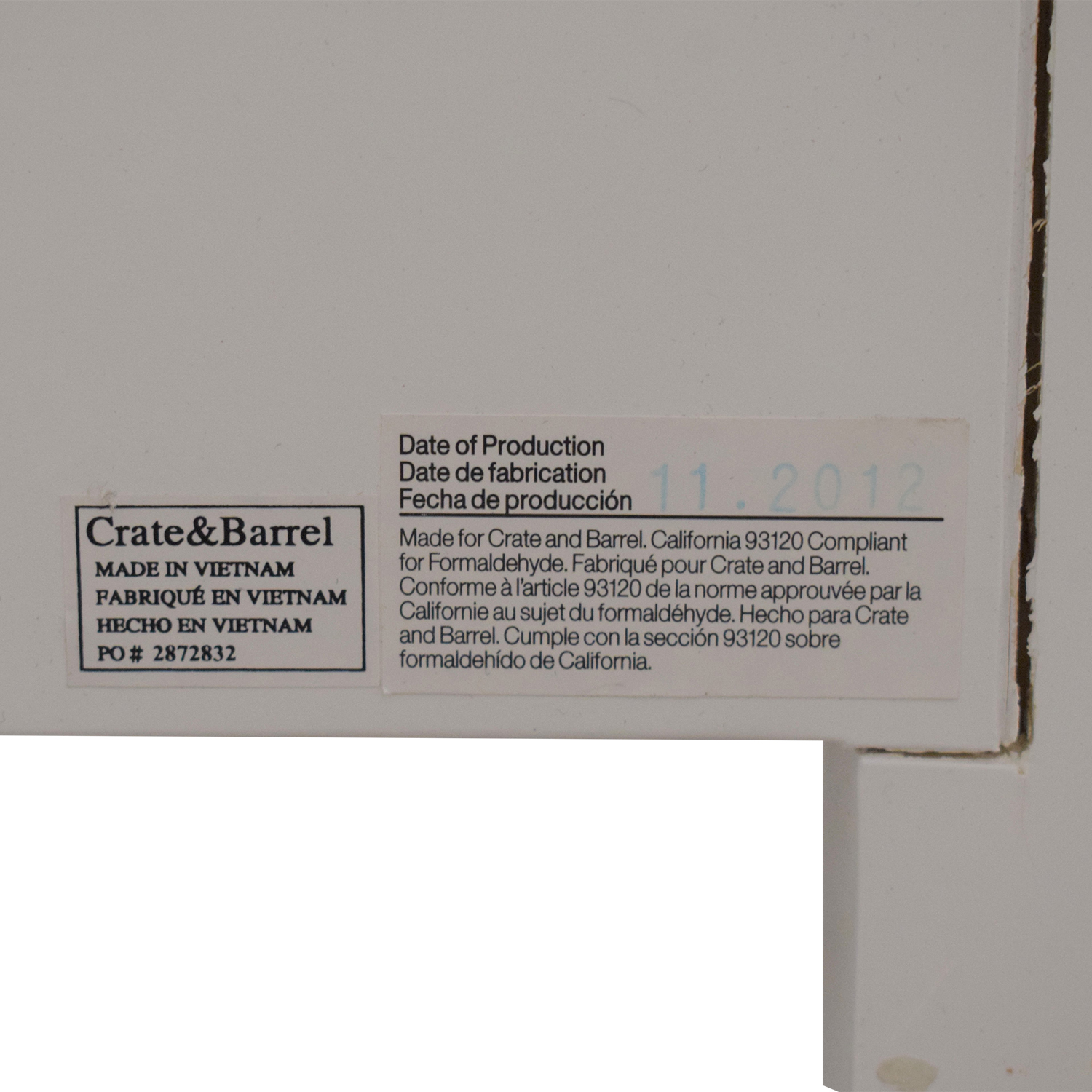 Crate & Barrel Crate & Barrel Brighton Six Drawer Dresser white