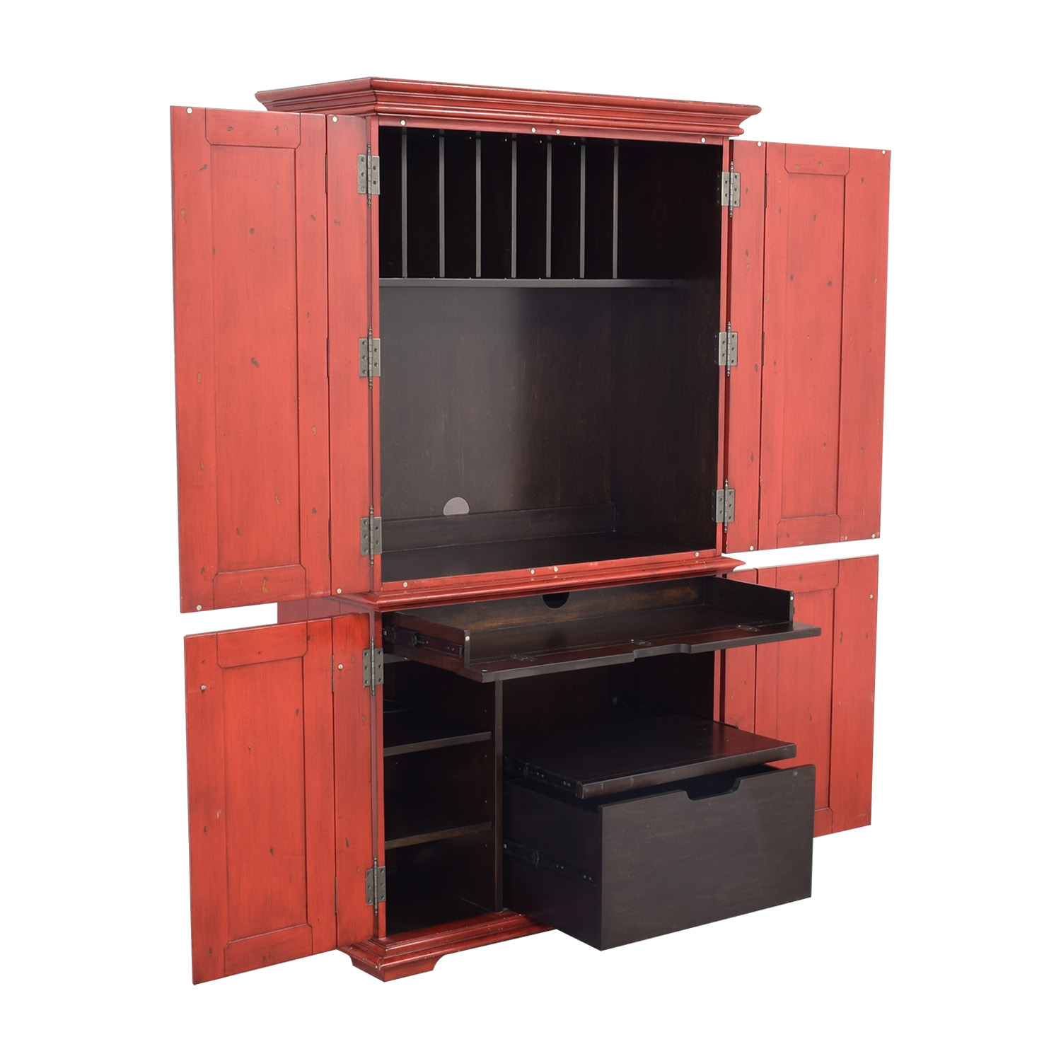 Pottery Barn Pottery Barn Campton Office Armoire with Desk for sale